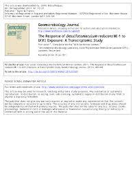 Pdf The Response Of Desulfotomaculum Reducens Mi 1 To Uvi