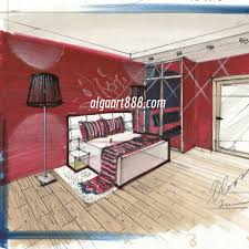 Marker Rendering Interior Design Interior Design Drawing With Markers My Video Courses Book
