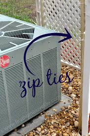 Lattice Air Conditioner Screen Covering Up An Ac Unit First Home Love Life