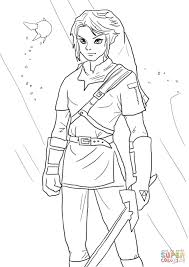 Small Picture Link from Legend of Zelda coloring page Free Printable Coloring