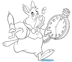 Small Picture Alice In Wonderland Coloring Pages To Download And Print For Free