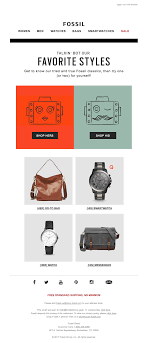 Fossil Design Curious The Best Email Designs In The Universe That Came Into My