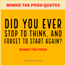 Winnie The Pooh Quotes Funny Famous Greeting Card Poet Awesome Pooh Quotes