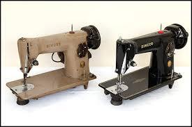 Brown Singer Sewing Machine
