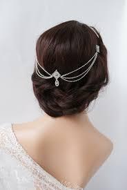 1920s Wedding Headpiece With Swags Vintage Bridal Headpiece Hair