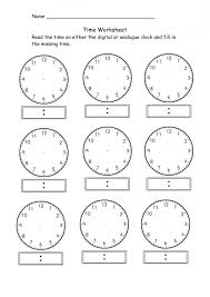 blank clock worksheet telling time kiddo shelter education math ...