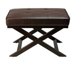 cortesi home ari brown x bench ottoman
