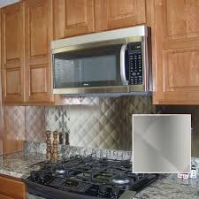 Stainless Steel Backsplash Kitchen Frigo Design 30 In X 30 In Quilted Stainless Steel Backsplash
