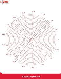 Free Custom Graph Paper Free Printable Polar Graph Paper Template In Pdf Graph
