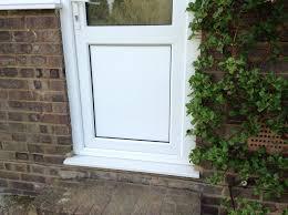 remove upvc door panel replace w wood catflap carpentry
