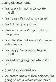 best the ugly truth of eating disorders images eating disorder logic