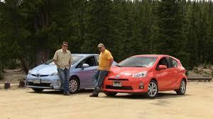 2012 Toyota Prius Plug-in vs Prius C Hybrid Mashup Review - YouTube