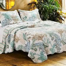 bedding queen beach theme quilt set