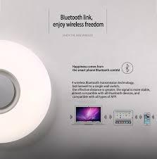 24w led rgb ceiling light shade lamp bluetooth speaker app remote control