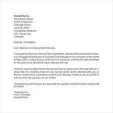 Interview Rejection Letter - 6 Free Doc Download Interview Rejection Letter for Internal Candidate