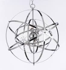 orb chandelier candle g7 wrought with crystal wrought iron crystal chrome orb model 86