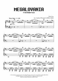 megalovania trumpet sheet music download megalovania from undertale piano sheet music by toby