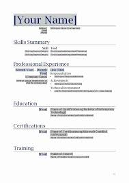 Resume Format Word File Download Lovely Simple Resume Format In Word