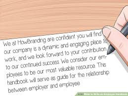 Staff Manual Template Custom How To Write An Employee Handbook With Pictures WikiHow