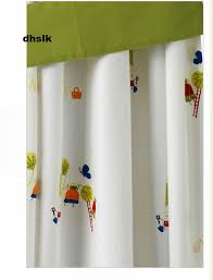 ikea torva children curtains w tie backs white veggies garden girl boy retro