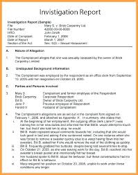 Formal Investigation Report Template