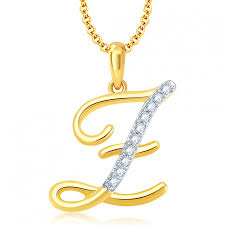 ara letter z gold and rhodium plated cz alphabet pendant