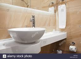 Badezimmer Luxus Klassisch Modernen Stil Mit Weißen Waschbecken