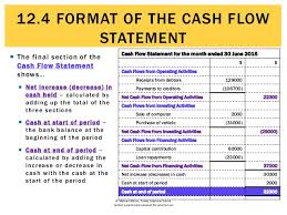 format of cash flow statements 12 4 format of the cash flow statement