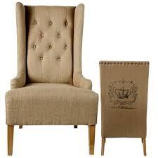 burlap furniture. crown paris burlap wing back chair furniture a