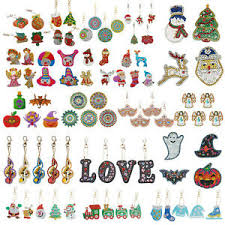 <b>5D DIY Diamond</b> Painting Christmas Key Chains Keyring ...
