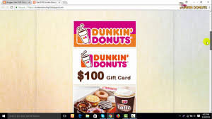 get 100 dunkin donuts gift card for free