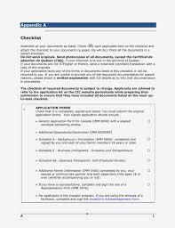 Appendix A Checklist Generic Application Form For Canada Form