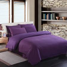 deep purple bedding set duvet quilt cover king size queen full double bedspread bed sheet 100