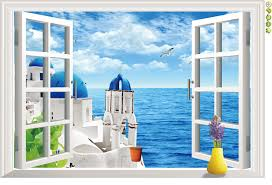 Small Picture Aliexpresscom Buy Natural scenery 3D Window Decal Home Decor