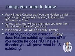 holden caulfield patient file psychological evaluation an  2 things