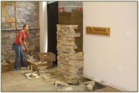 image of faux rock siding diy