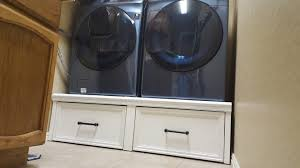 washer dryer pedestal with flush front drawers