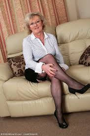 Older Woman In Pantyhose