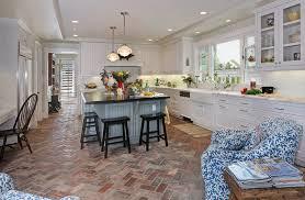 brick floor tiles in chevron for kitchen floor