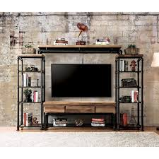 industrial tv stand. Furniture Of America Herman Industrial Antique Black 60-inch TV Stand- 1 Piece Tv Stand