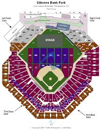 Fenway Park Concert Seating Chart With Seat Numbers Citizens Bank Park Seating Chart