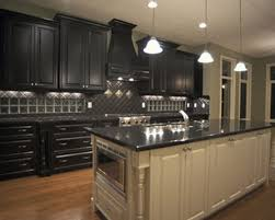 Cabinet For Kitchens Dark Kitchen Cabinets To Complement A Minimalist Kitchen Island
