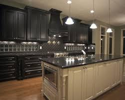 Dark Kitchen Dark Kitchen Cabinets To Complement A Minimalist Kitchen Island