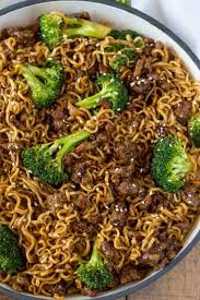 ground beef teriyaki ramen dinner