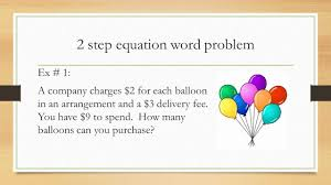2 step equations word problems