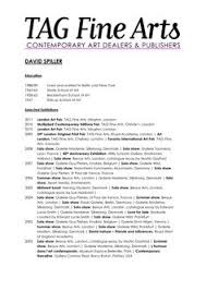 Artist Cv Sample Cv Template Exhibitions Career Services And