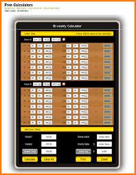 Free Bi Weekly Time Card Calculator 2 Proto Politics