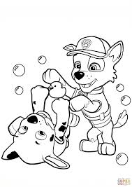 Coloring Pages Marshall Pawl Coloring Page Pages Rocky Nick Jr