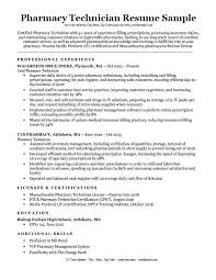 Pharmacy Tech Resume Objective Pharmacy Technician Resume Objective
