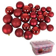 Weihnachtsbaumkugeln Rot 70 Stück In Aufbewahrungsbox Christbaumschmuck Deko
